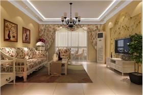 兰蒂斯城130平米田园风格装修设计 生活恬静浪漫!