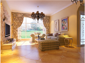 【150㎡三居室】给你一个充满异域风情的欧式田园风格