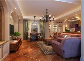 15万三口之家豪华时尚两居室打造美式田园风格 充满自然和谐之美~