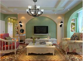 140平米三室两厅两卫 为女儿打造的欧式田园公主梦幻小屋