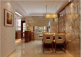 传统学问搭配木质简约家居,打造130㎡三居室新中式家居。