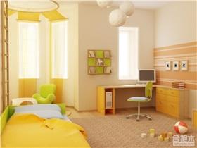 橙黄色儿童房