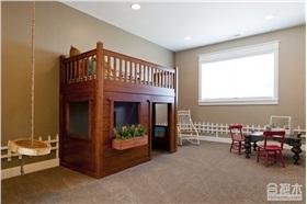 儿童房之木屋式儿童床设计