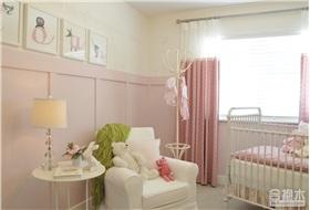 粉色儿童房一隅