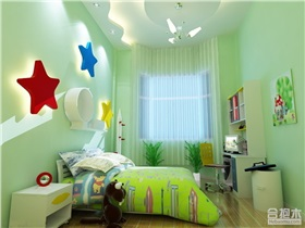 薄荷绿风格儿童房