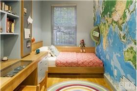 儿童房装修背景墙——世界地图