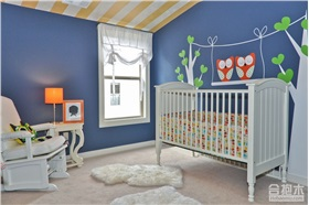 经典蓝色系儿童房