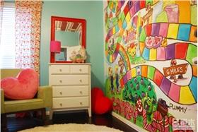 儿童房装修多彩墙面设计