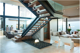 小别墅内部过道楼梯设计图片