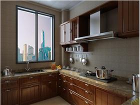 三居室厨房整体橱柜装修设计