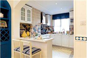 地中海风格厨房吧台