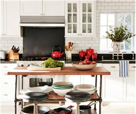 欧式风格大气温馨开放式厨房装修图片