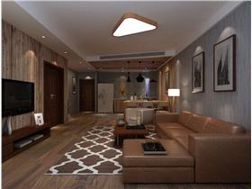 中式风格三居室客厅沙发装修图片