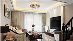 白色文艺中式风格客厅窗帘10bet十博娱乐app