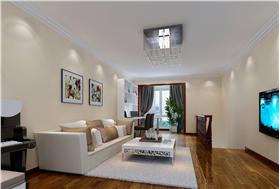 温馨白色现代风格客厅照片墙装修图片