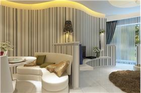 白色素雅现代风格餐厅沙发装修美图