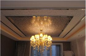 棕色欧式风格华美客厅吊顶装修美图