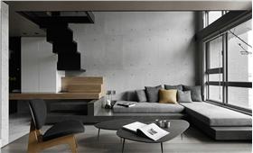 北欧风格灰色客厅