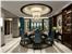 欧式风格餐厅蓝色餐桌