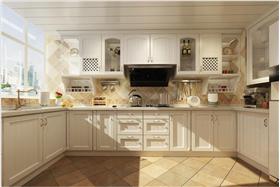 简欧风格厨房白色橱柜