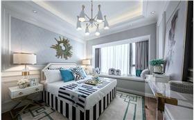 现代风格卧室白色飘窗