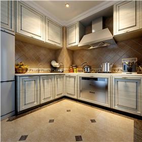 现代大气厨房白色橱柜